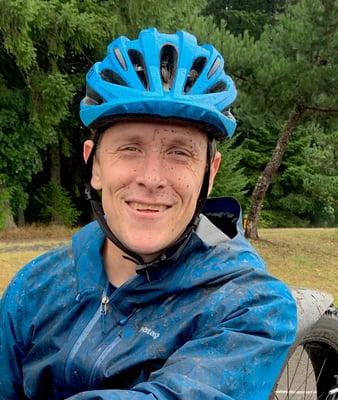 seth mcbride on a hand bike ride