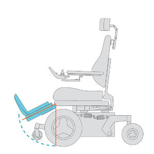 Power-wheelchair-Elevating-and-Articulating-Lower-Leg-Support