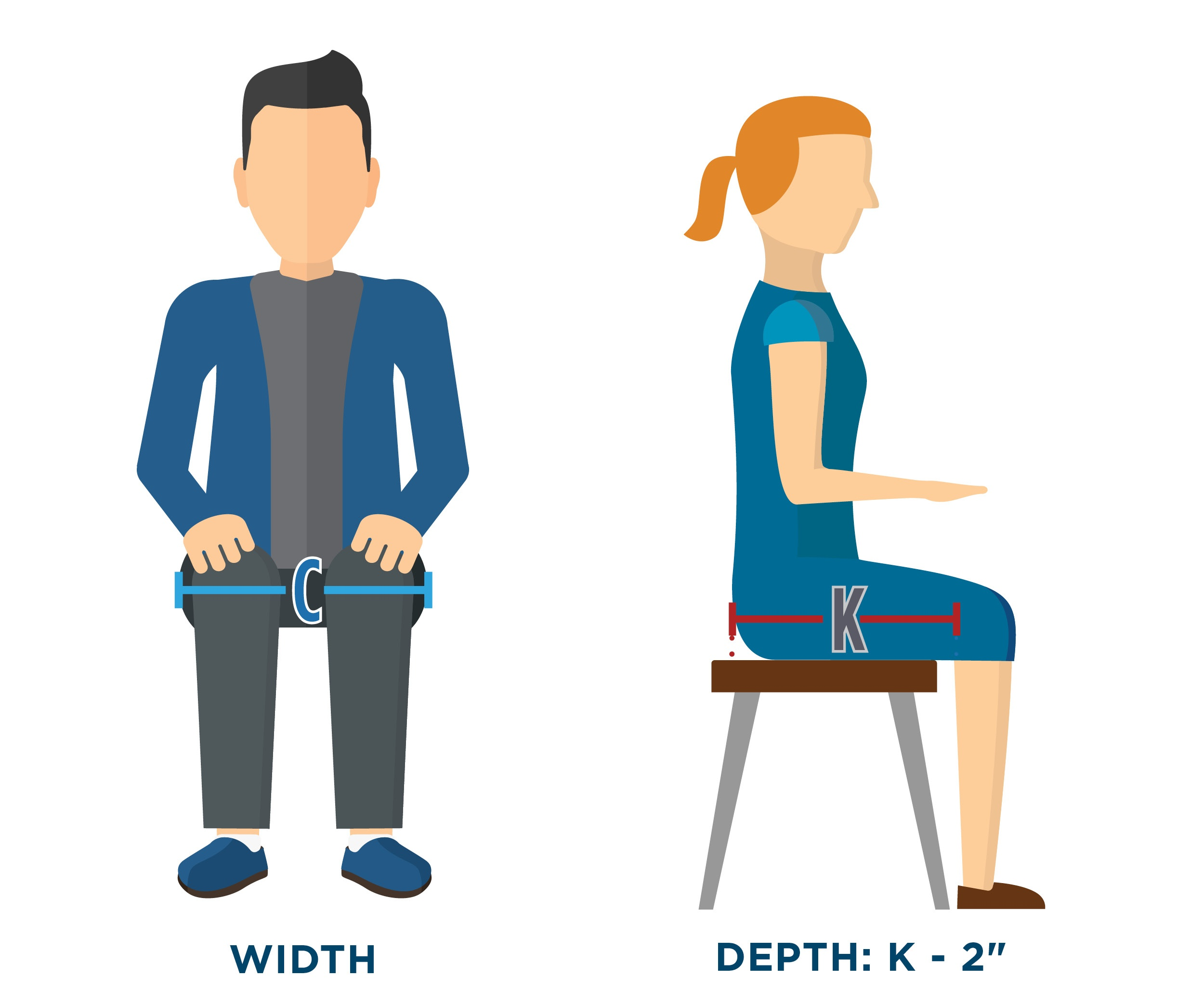 Wheelchair_Seat_Measuring_Guide - Seat Dimension