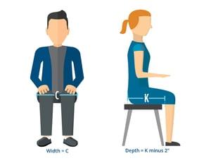 Seat Dimensions Image