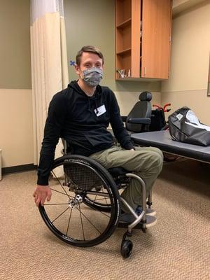 seth mcbride is his new tilite manual wheelchair