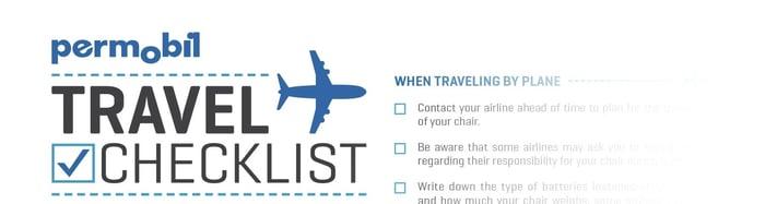 permobil travel checklist