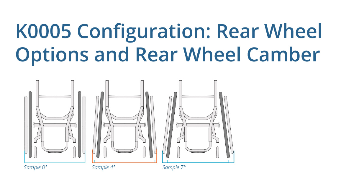 K0005 Configuration: Rear wheel options and rear wheel camber