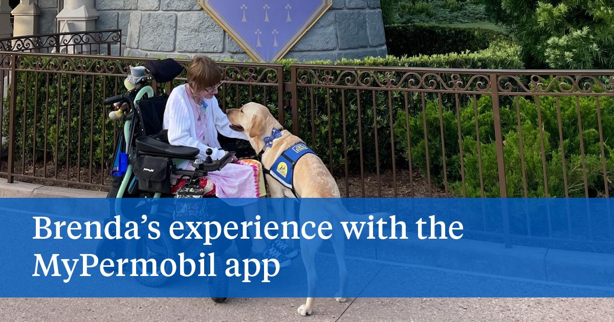 Brenda's experience with the MyPermobil app