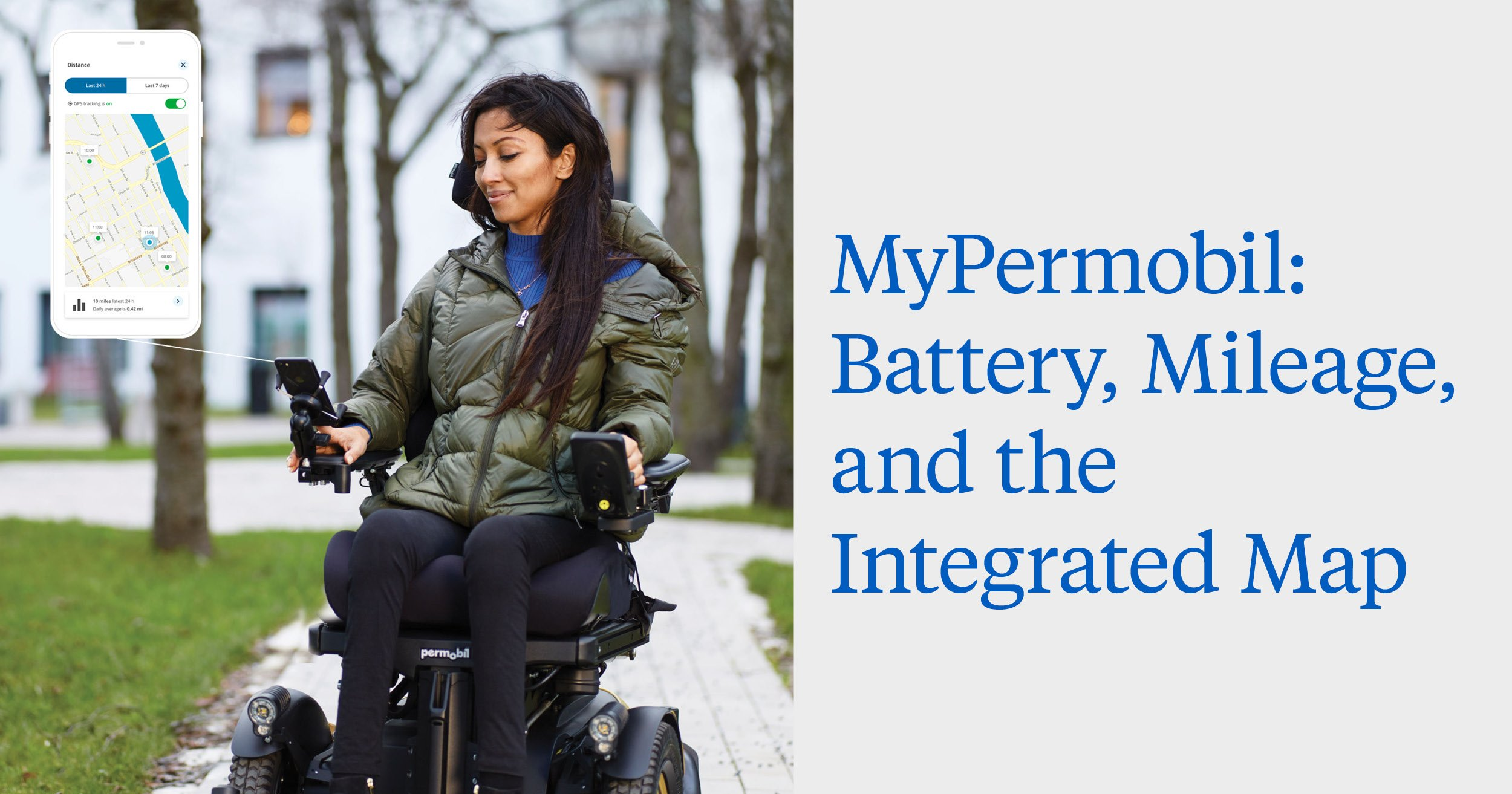 MyPermobil: Battery, Mileage, and the Integrated Map