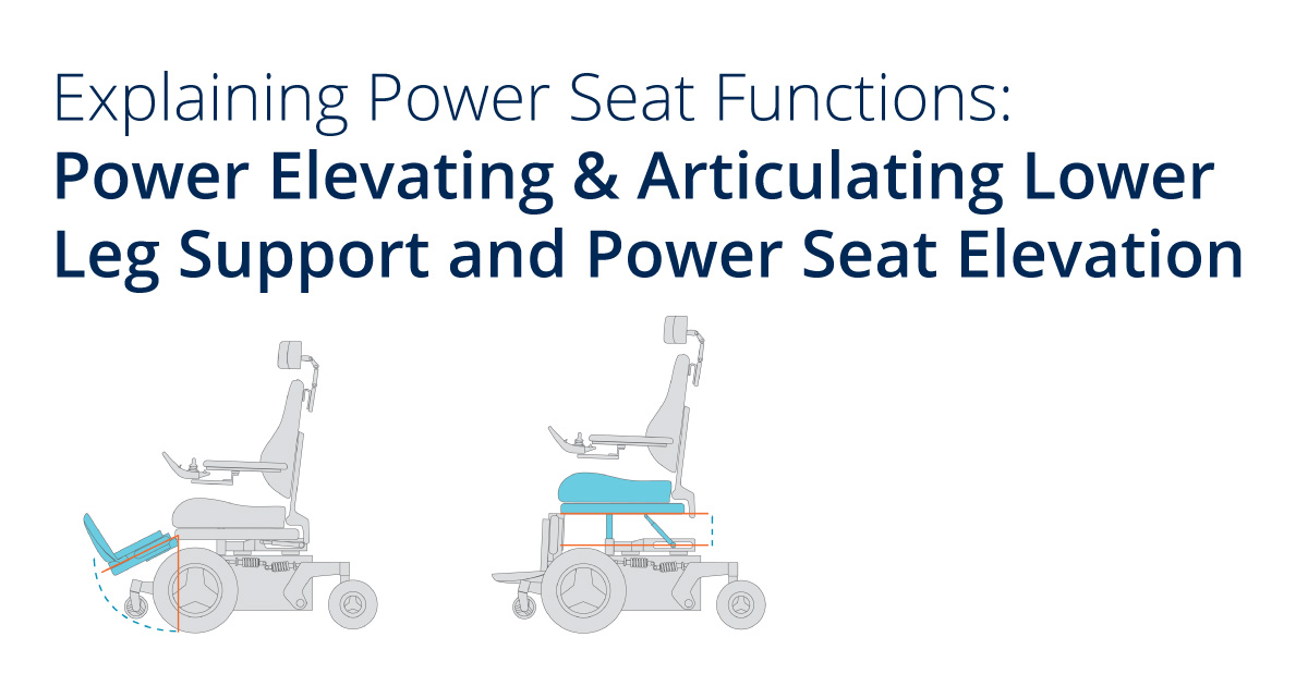 Power Elevating & Articulating Lower Leg Support and Power Seat Elevation